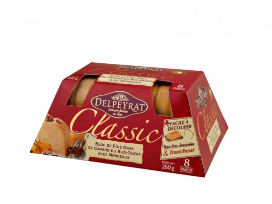Block of duck foie gras Delpeyrat 260 g