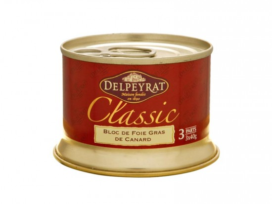 Block of duck liver CV Delpayrat 120 gr